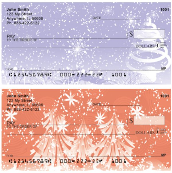 Stylistic Christmas Personal Checks
