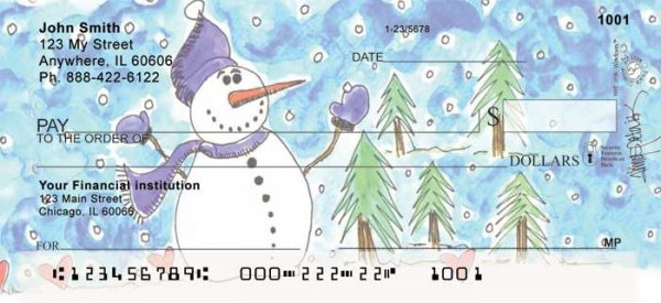 Winter Wonderland Personal Checks by Amy S. Petrik