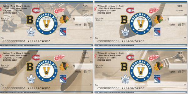 Hockey Original Six Personal Checks