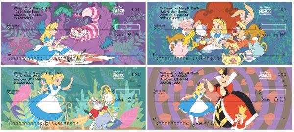 Alice In Wonderland Personal Checks
