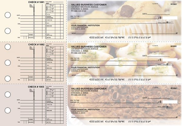 Bakery 3-on-a-Page Checks