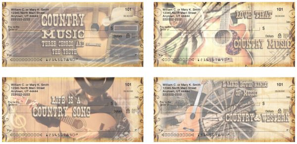 Country Music Personal Checks