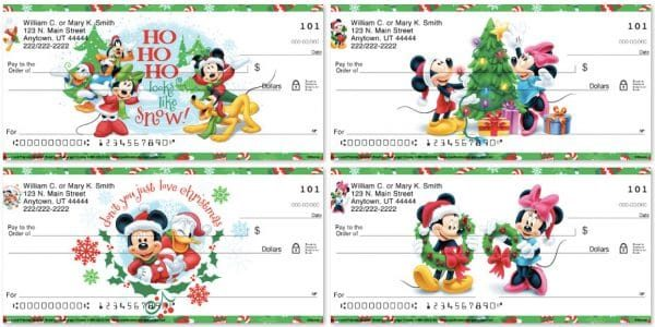 Disney Mickey and Friends Holiday Personal Checks