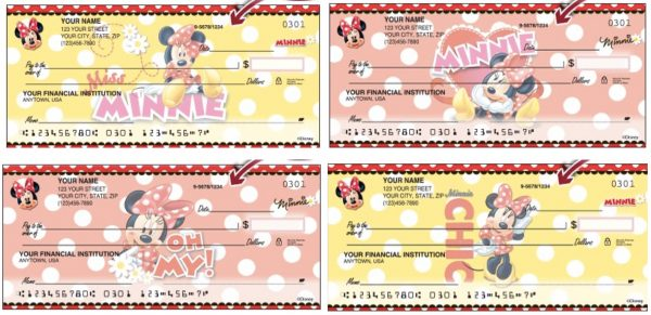 Disney Minnie Mouse Checks