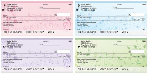 Floral Music Checks