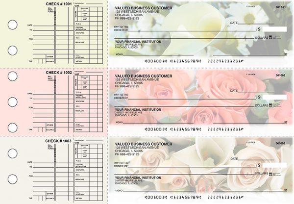 Florist 3-on-a-Page Checks