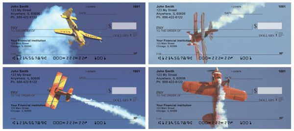 High Flying Stunt Plane Personal Checks
