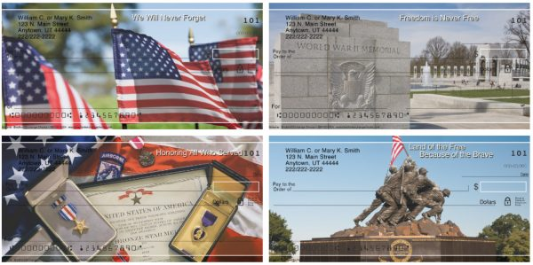 Honoring Our Veterans Personal Checks, Military Checks