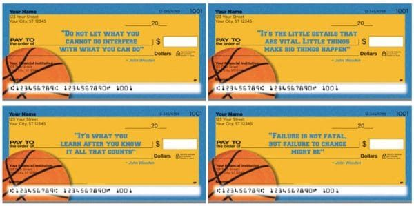 John Wooden Basketball Personal Checks