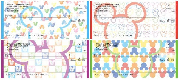 Mickey Mouse Icons Personal Checks