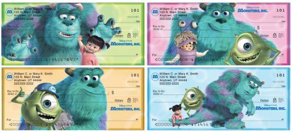 Monsters Inc Personal Checks