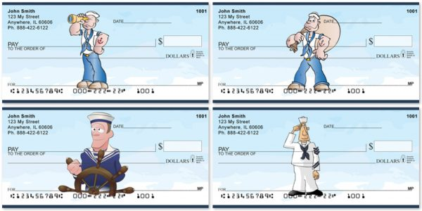 Navy Fun Personal Checks
