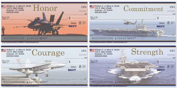 Navy Personal Checks