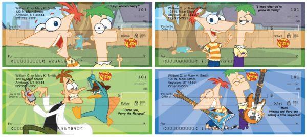 Phineas & Ferb Personal Checks