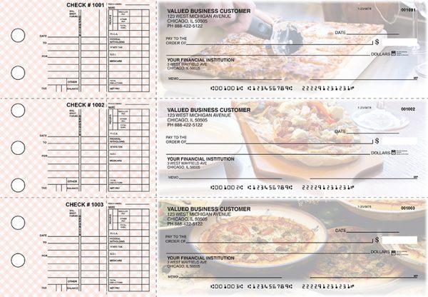 Pizza 3-on-a-Page Checks