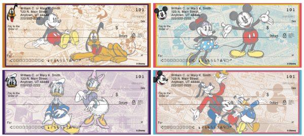 Sketch Book Mickey Personal Checks