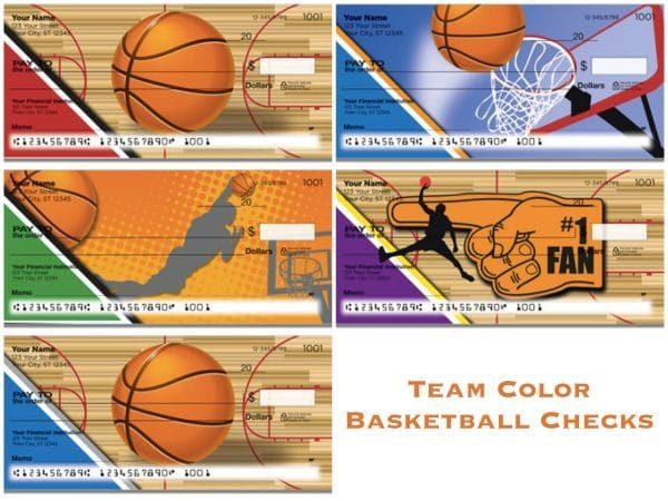 Team Color Basketball Checks