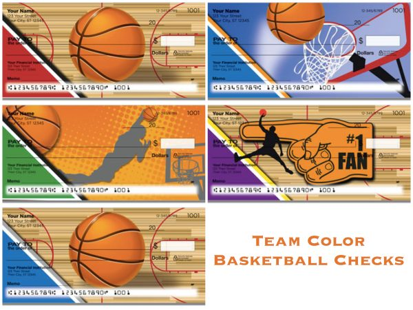 Team Color Basketball Checks