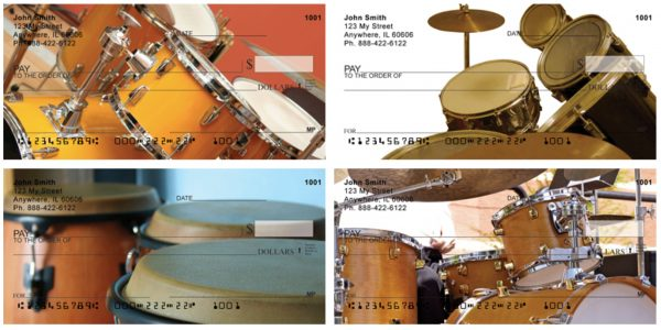 The Beat Goes On Drum Personal Checks
