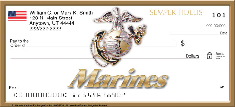 U.S. Marines Personal Checks