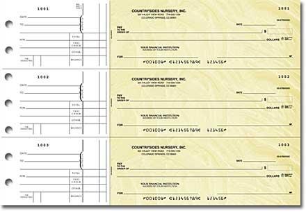 Goldenrod 3-on-a-Page Checks