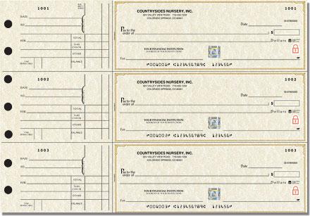 Parchment 3-on-a-Page Checks