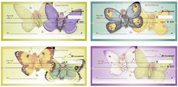 Anne Geddes Butterfly Babies Checks