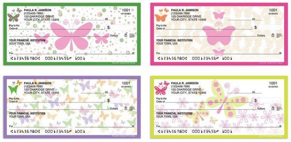 Bright Butterflies Checks