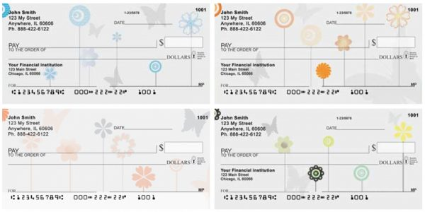 Butterflies Floating Personal Checks
