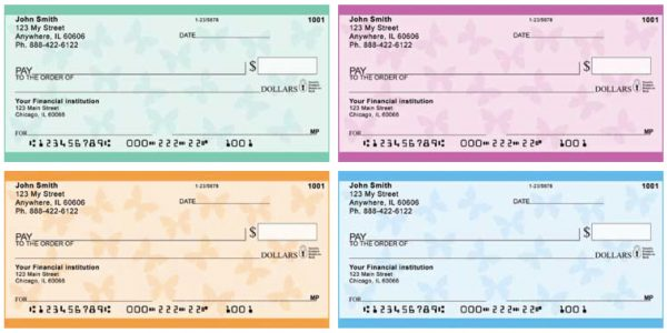 Simple Butterfly Personal Checks