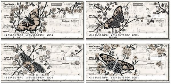 Carol Eldridge Artistic Butterfly Checks