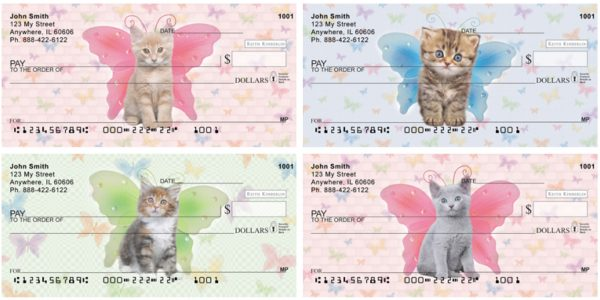 Cats with Butterfly Wings Checks by Keith Kimberlin