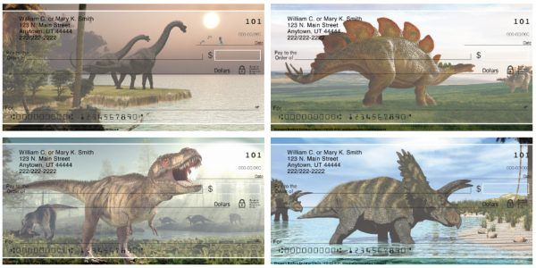 Dinosaurs Personal Checks