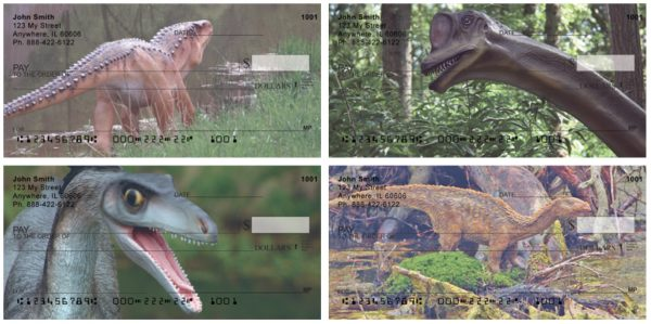 Dinosaurs Roaming Forests & Lakes Personal Checks