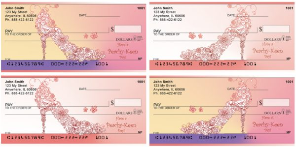 High Heel Floral & Butterfly Personal Checks