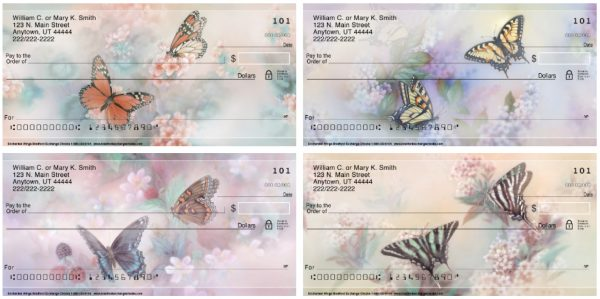 Enchanted Butterfly Wings Personal Checks by Lena Liu