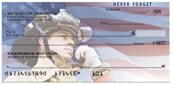 American Heroes Patriotic Checks