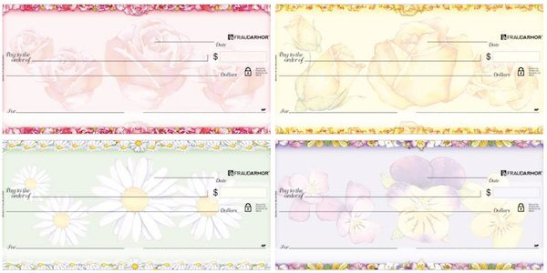 Beautiful Blooms and Roses Personal Checks