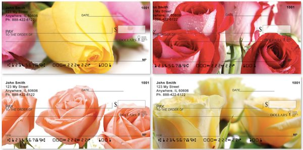 Spring Rose Bouquet Personal Checks