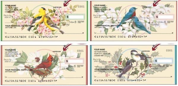 Birds and Blossoms Checks