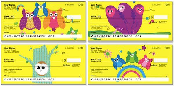 Colorful Owl Checks