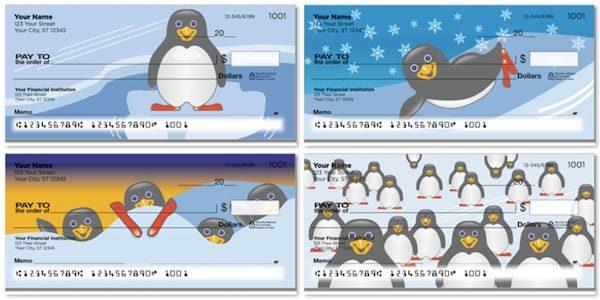 Cute Penguin Checks