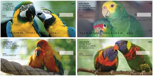 Love Birds In The Tropics Personal Checks