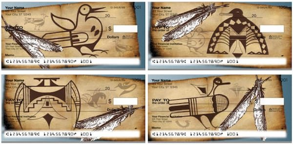 Native American Bird Symbol Checks