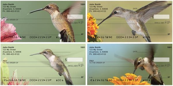 Out For A Spin Hummingbirds Personal Checks