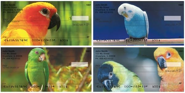 Parakeets On Parade Personal Checks