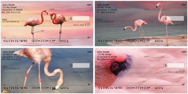 Pink Flamingo Personal Checks