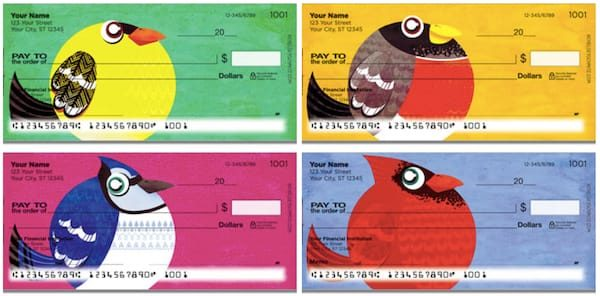 Round Bird Personal Checks