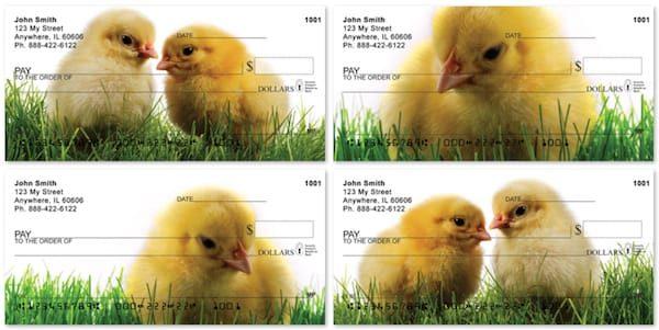 Spring Chicks Personal Checks