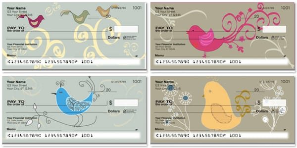 Whimsical Bird Checks